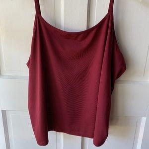 Lane Bryant Wine Red Cami Women's Size 26/28